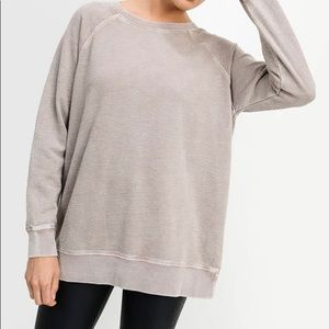 Essential Mineral-Wash Raglan Terry Pullover